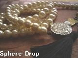 Sphere Dropランドリーピンとパールのロングネックレス