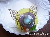Sphere Dropメタルバタフライのリング