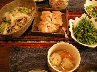 鶏肉晩御飯