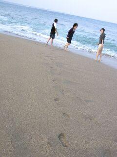 20050918 海水浴 三人