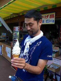 20060722 ふきだし公園 ソフトクリーム
