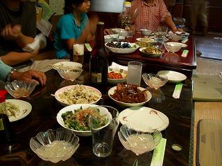 20060916 稲刈り 夕食