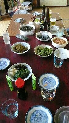 20070504 夕食 山菜