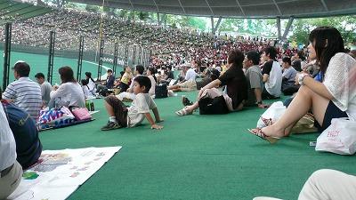 20070630 西武ドーム 外野席の客