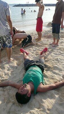 20070923 サンセットビーチ 死人