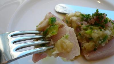 20080117 アロマクラシコ 佐世保産の寒ブリのカルパッチョ