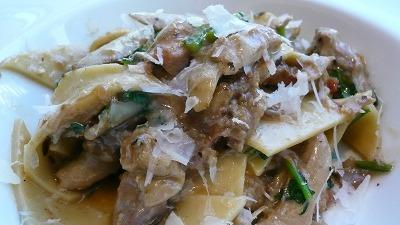 20080117 アロマクラシコ ホロホロ鶏 御坊 平麺パスタ