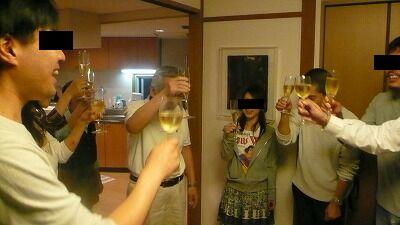 20080420 蕎麦パーティー 乾杯