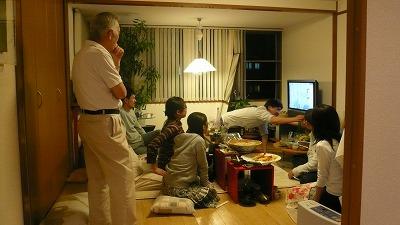20080420 蕎麦パーティー TV鑑賞