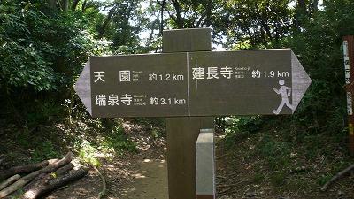 20080726 鎌倉ハイキング 立て札