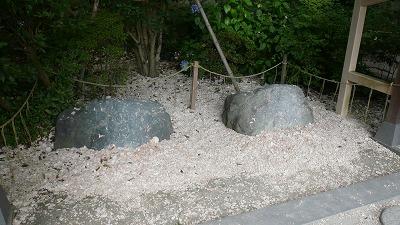 20080726 鎌倉ハイキング 厄割り石の痕