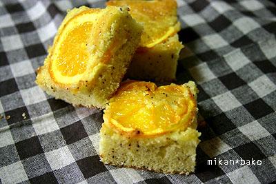 オレンジのアールグレイティーケーキ