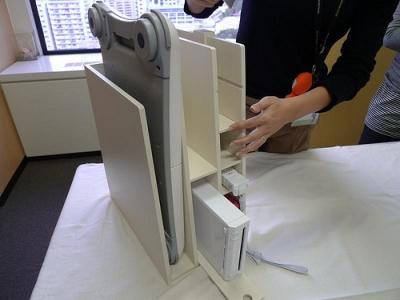 Wii Fitバランスボードも置けるゲーム機収納ラック