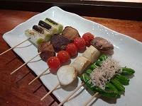 野菜焼5本盛り合わせ