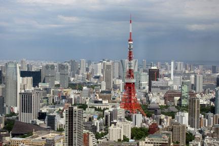 六本木ヒルズから観る東京タワー