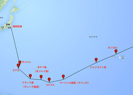 第2回アメリカ横断ウルトラクイズの太平洋航空路.jpg