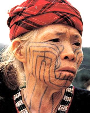 リー族の刺青