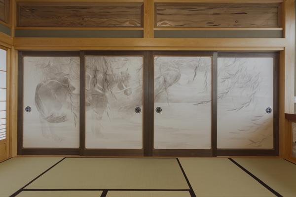繁久寺襖絵 水墨画