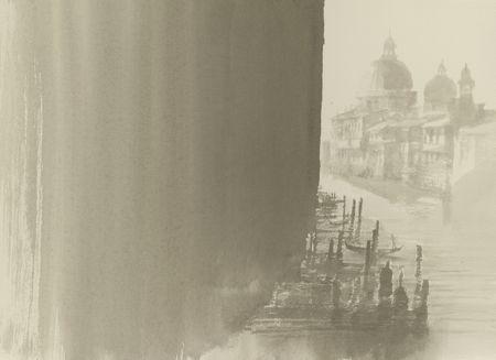 水の都 ヴェネチア 12松屋 水墨画
