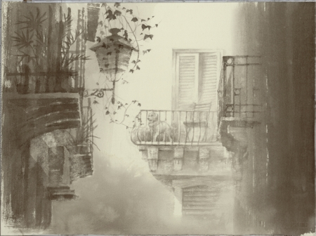 テラスのある風景(ヴェネチア・イタリア)
