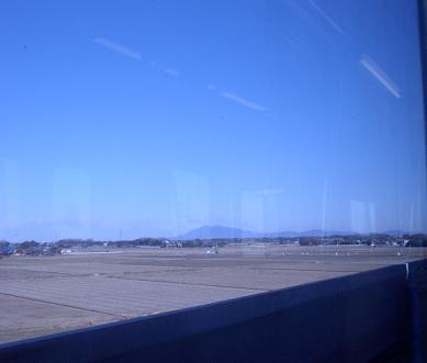 筑波山が遠くに見える