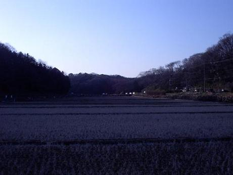 ふるさと村の夕景