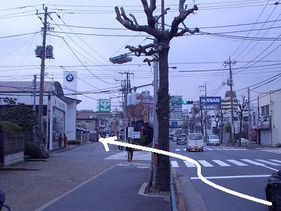 世田谷通り旧道