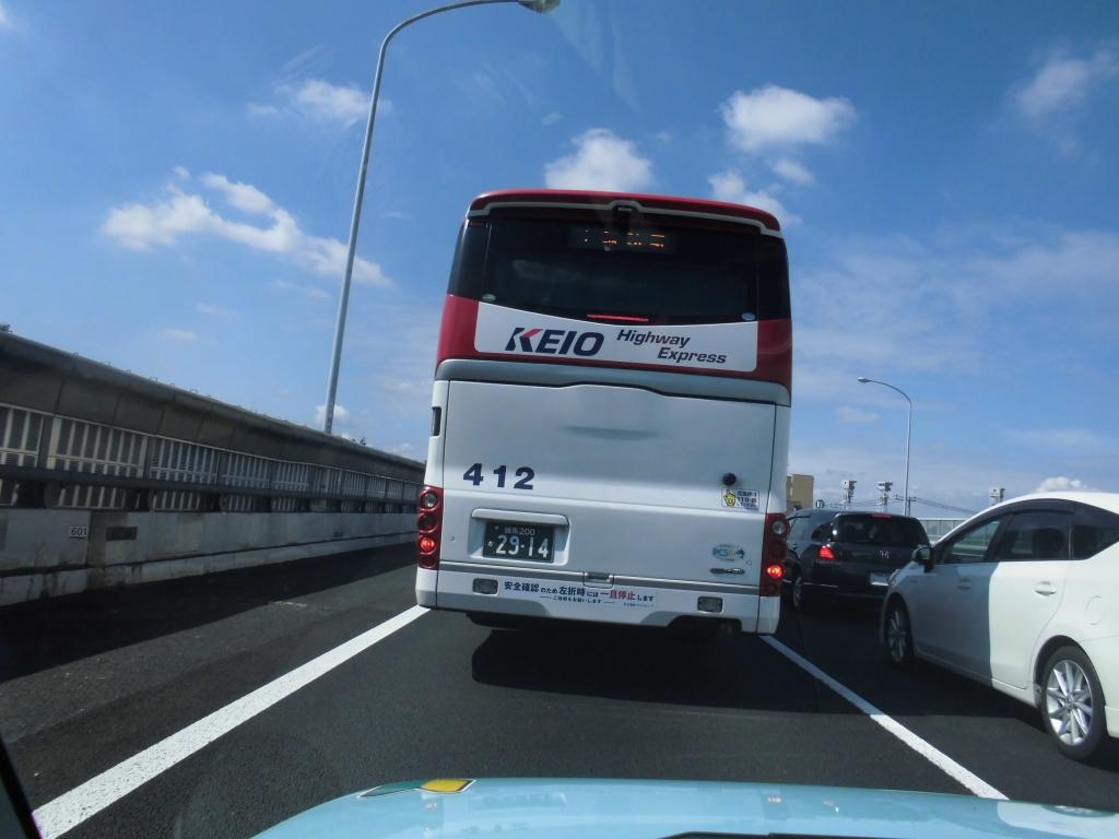バスの後ろ