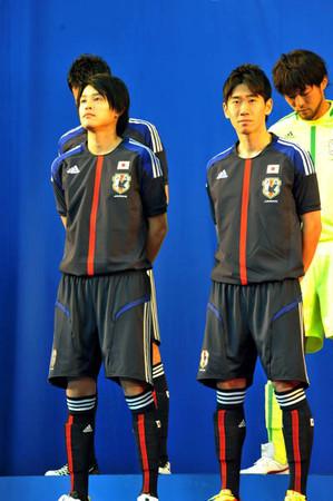 日本代表の新ユニホーム発表