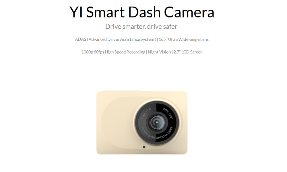 Xiaoyi YI フルHD Smart Car Dash Camera