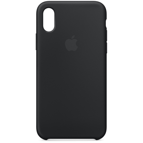Apple iPhone X シリコーンケース  ブラック