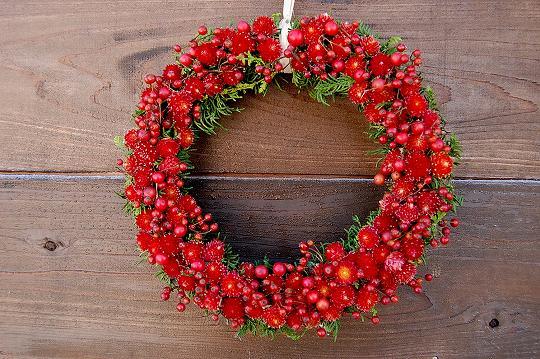 赤い warm heart リース
