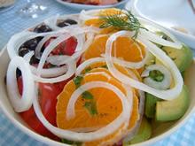 アボカドオレンジトマトのサラダ