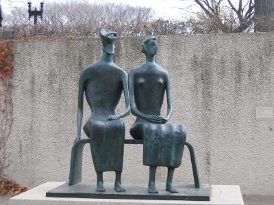 ワシントンのスミソニアン博物館前のオブジェ