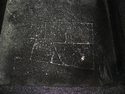 昔の黒板に書かれた星座みたい。