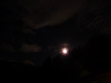 9日撮影。明るい月夜でした。