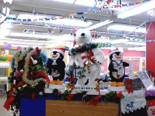 お店の中はクリスマス