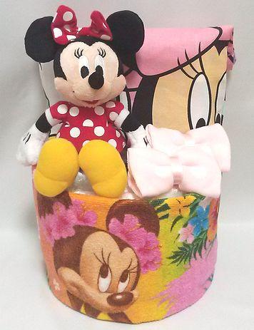 ミニーちゃん☆ハワイアンおむつケーキ
