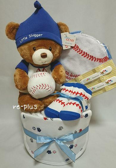 ベースボール☆野球大好きパパ☆おむつケーキオーダー