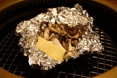 きのこホイルバター焼き