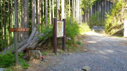 林道が通っている