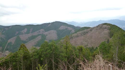小仏城山が見える