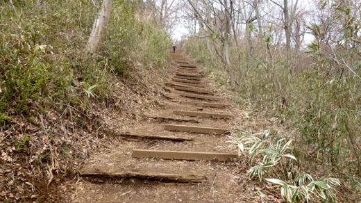 城山直下の階段