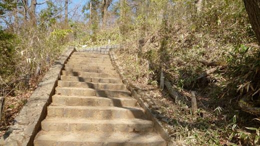 高尾山長へ階段を上る