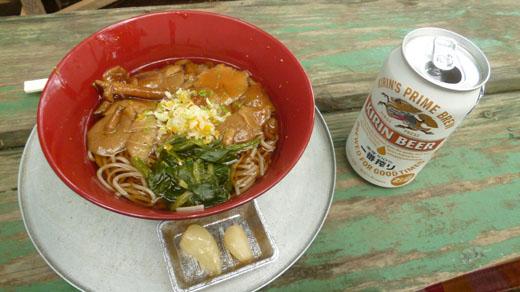 景信山茶屋のきのこ蕎麦