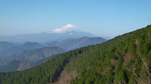富士山を見ながら左を巻く