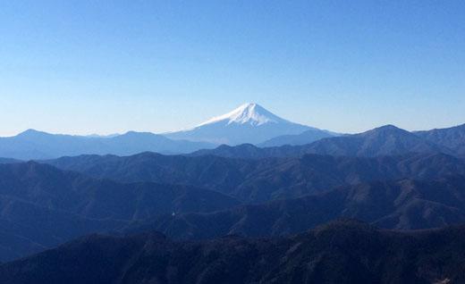 鷹ノ巣山から富士山