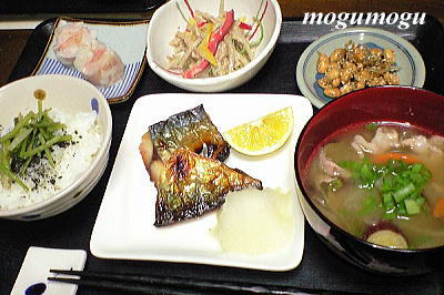 鯖の塩焼き定食