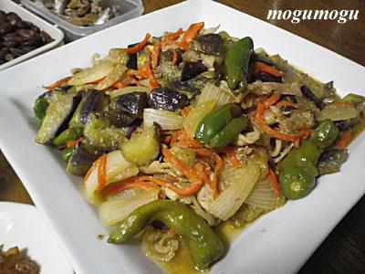 豚と野菜のピリ辛炒め