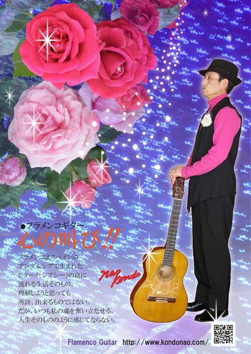 フラメンコギターイメージポスター